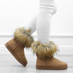 Camel botki śniegowce futerko