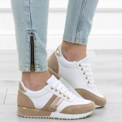 Białe beżowe adidasy sneakersy