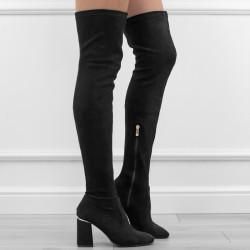 Czarne kozaki za kolano...