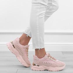 Różowe adidasy sportowe...