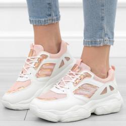 Białe różowe adidasy...