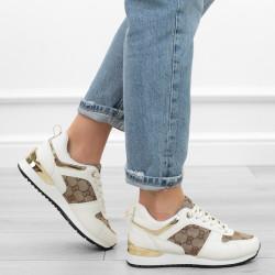 Białe beżowe sneakersy...