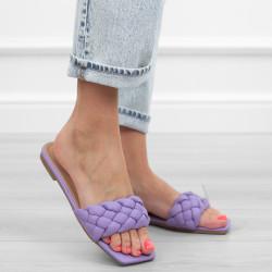 Fioletowe purple klapki...