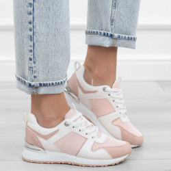 Różowe białe adidasy...