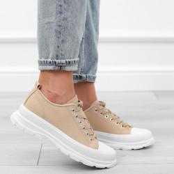 Khaki trampki sneakersy niskie