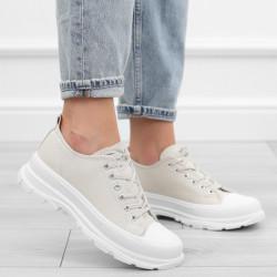 Beżowe trampki sneakersy...