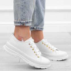 Białe trampki sneakersy niskie