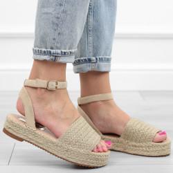 Beżowe sandały espadryle...