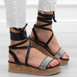 Złote sandały damskie...