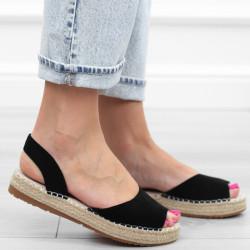 Czarne sandały damskie...
