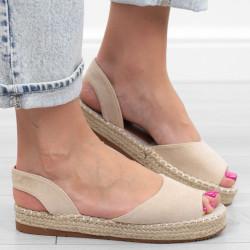 Beżowe sandały damskie...