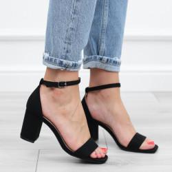 Czarne sandały zamszowe...
