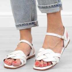 Białe sandały damskie...